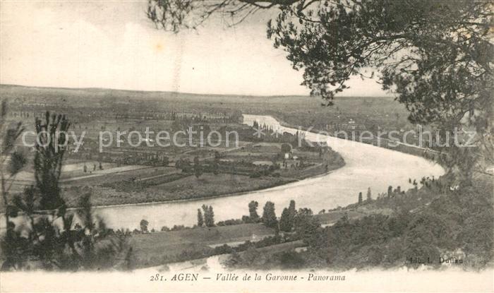 AK / Ansichtskarte Agen_Lot_et_Garonne Panorama de la Vallee de la Garonne Agen_Lot_et_Garonne