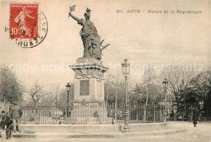 AK / Ansichtskarte Agen_Lot_et_Garonne Statue de la Republique Monument Agen_Lot_et_Garonne