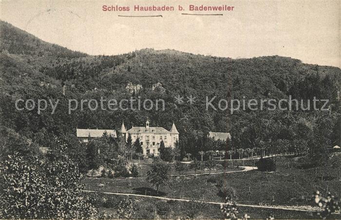 Badenweiler Schloss Hausbaden Badenweiler