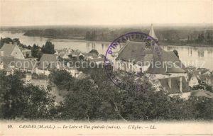 AK / Ansichtskarte Candes Saint Martin Vue generale et la Loire Candes Saint Martin