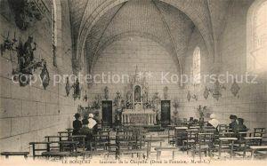 AK / Ansichtskarte Doue la Fontaine Le Bosquet Interieur de la Chapelle Doue la Fontaine
