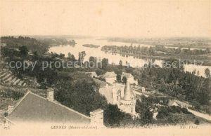 AK / Ansichtskarte Gennes_Maine et Loire Panorama sur la Loire Gennes Maine et Loire