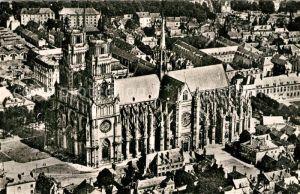 AK / Ansichtskarte Orleans_Loiret Cathedrale Sainte Croix vue aerienne Orleans_Loiret