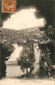 AK / Ansichtskarte Cabrerets vu des Ruines Anglaises Cabrerets