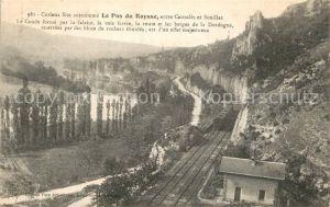 AK / Ansichtskarte Cazoules Le Pas du Raysse la Dordogne Chemin de fer Cazoules