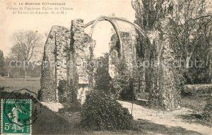 AK / Ansichtskarte Gurcy le Chatel Ruines de l'ancienne Eglise du Chateau Gurcy le Chatel