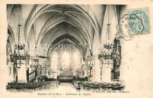 AK / Ansichtskarte Jouarre Interieur de l Eglise Jouarre