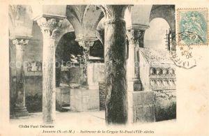 AK / Ansichtskarte Jouarre Interieur de la Crypte St Paul Jouarre