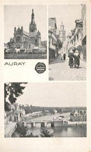 AK / Ansichtskarte Auray Vues d ensemble Eglise Pont sur l Auray Auray