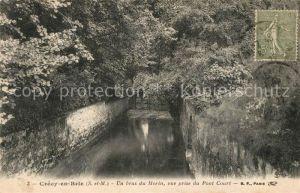AK / Ansichtskarte Crecy_en_Brie Un bras du Morin vue prise du Pont Court Crecy_en_Brie