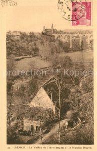 AK / Ansichtskarte Semur en Auxois La Vallee de l'Armancon et le Moulin Dupin Semur en Auxois