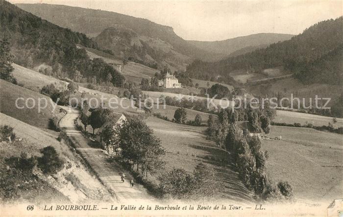 AK / Ansichtskarte La_Bourboule La Vallee de la Bourboule et la Route de la Tour La_Bourboule