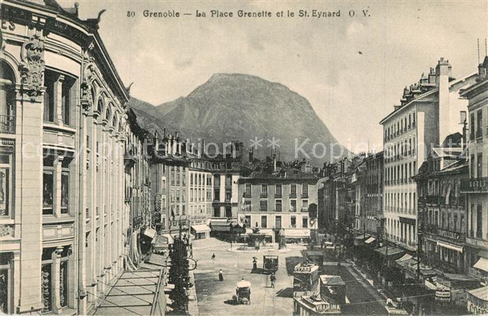 AK / Ansichtskarte Grenoble La Place Grenette et le St Eynard Grenoble