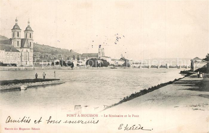 AK / Ansichtskarte Pont a Mousson Le Seminaire et le Pont Pont a Mousson