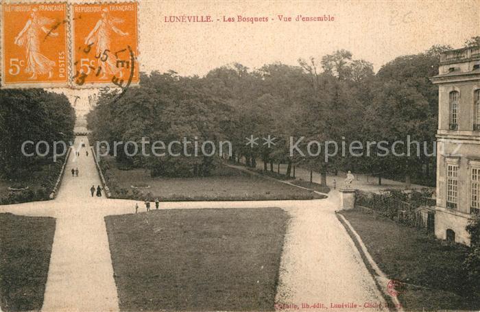 AK / Ansichtskarte Luneville Les Bosquets Vue d ensemble Luneville