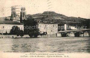 AK / Ansichtskarte Pont a Mousson Le Pont Cote de Mousson Eglise St Martin Pont a Mousson