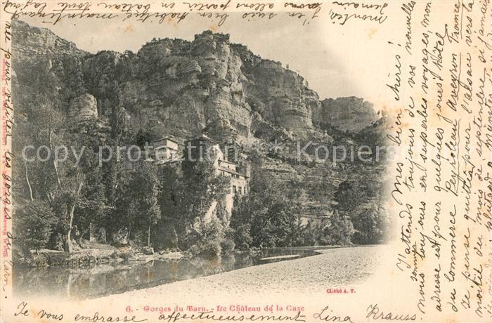 AK / Ansichtskarte Gorges_du_Tarn Le Chateau de la Caze Gorges_du_Tarn
