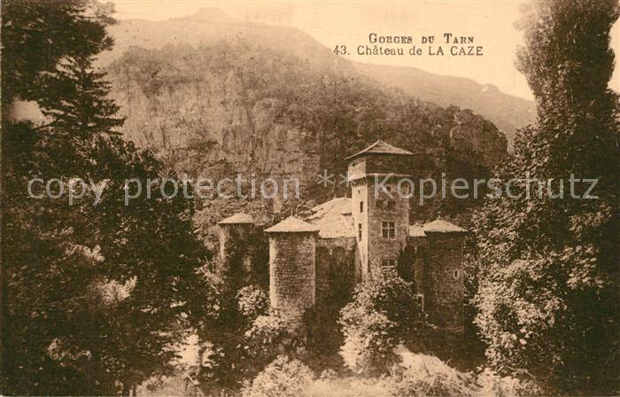 AK / Ansichtskarte Gorges_du_Tarn Chateau de La Caze Gorges_du_Tarn