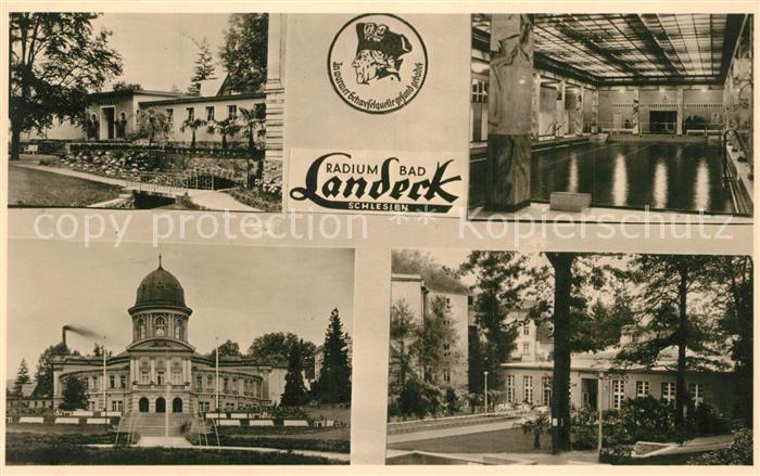 AK / Ansichtskarte Bad_Landeck_Schlesien Kurhaus Hallenbad Bad_Landeck_Schlesien