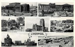 AK / Ansichtskarte Liverpool Cathedral Mersey Tunnel Victoria Memorial  Liverpool