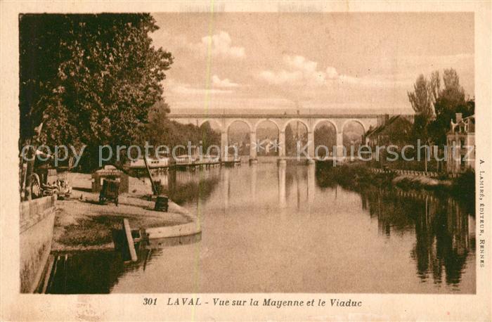 AK / Ansichtskarte Laval_Mayenne Vue sur la Mayenne et le Viaduc Laval Mayenne