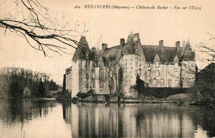 AK / Ansichtskarte Mezangers Chateau du Rocher vue sur l etang Mezangers
