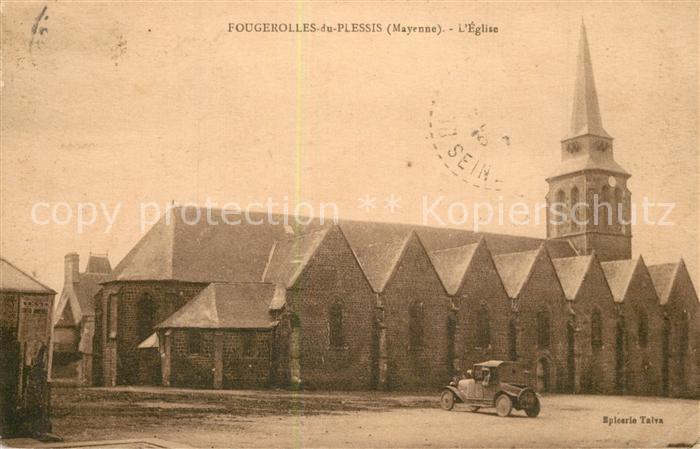 AK / Ansichtskarte Fougerolles du Plessis Eglise Fougerolles du Plessis