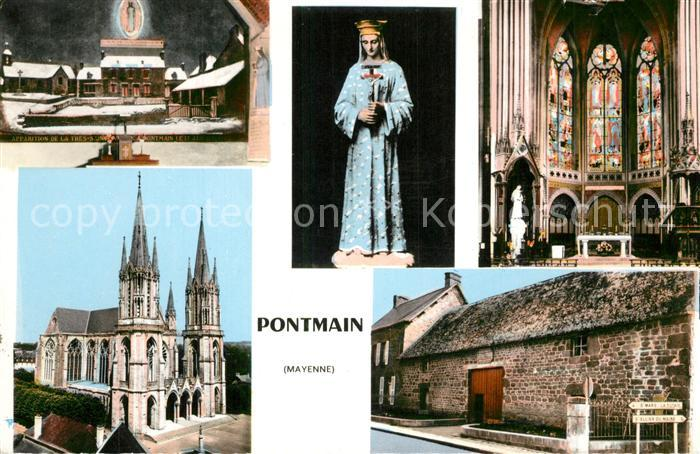 AK / Ansichtskarte Pontmain Eglise Interieur Madonna Pontmain