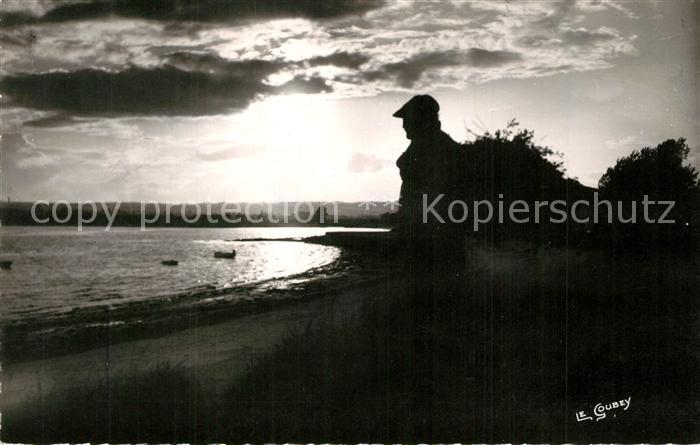 AK / Ansichtskarte Reville_Manche Effet de contre jour le soir pres de l embouchure de la Saire Reville_Manche