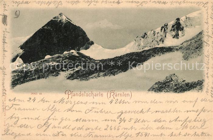 AK / Ansichtskarte Pfandelscharte Winterlandchaft Pfandelscharte