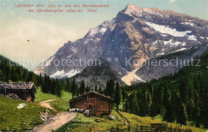 AK / Ansichtskarte Lafatscherjoch Lafatscher Alm Nordabstuerze Speckkarspitze Lafatscherjoch