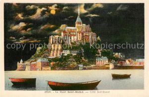 AK / Ansichtskarte Le_Mont Saint Michel Vue au clair de lune Le_Mont Saint Michel