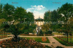 AK / Ansichtskarte Komotau Rosenpark Pavillon Komotau