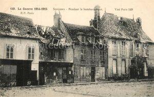 AK / Ansichtskarte Soissons_Aisne La Guerre 1914 15 Pendant le bombardement Soissons Aisne