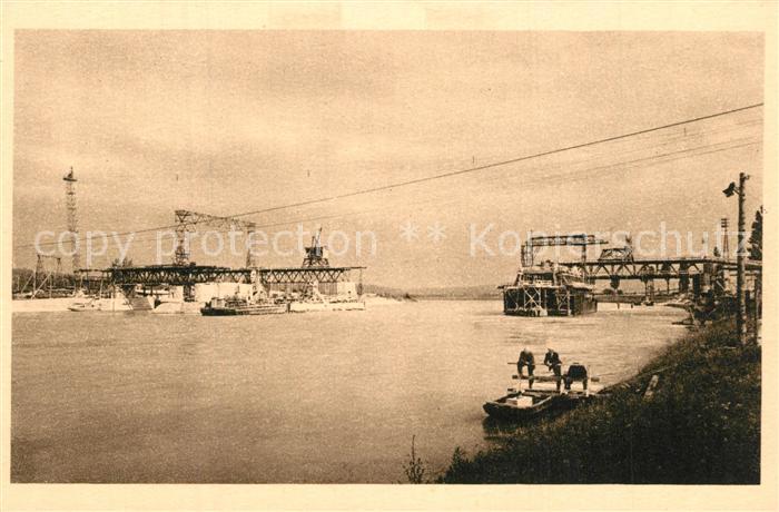 AK / Ansichtskarte Kembs_Elsass Barrage vue d'aval rive francaise Juillet 1930 Kembs Elsass