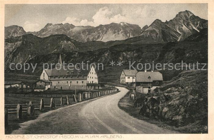 AK / Ansichtskarte Arlberg Gasthof Hospiz St Christof Arlberg