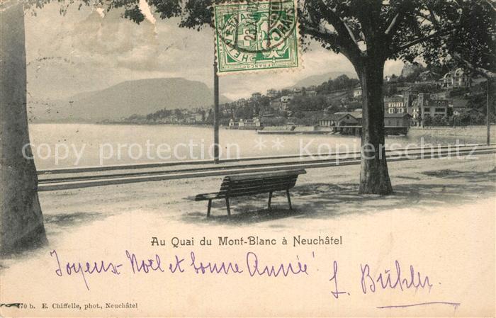 AK / Ansichtskarte Neuchatel_NE Au Quai du Mont Blanc Neuchatel NE