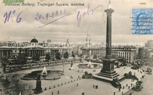 AK / Ansichtskarte London National Gallery Trafalgar Square London