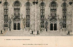 Bruges_Flandre Porte du Palais du Gouvernement Bruges_Flandre