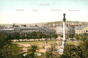 AK / Ansichtskarte Stuttgart Schlossplatz K?nigsbau Hotel Marquardt K?nigin Olga Baue Stuttgart