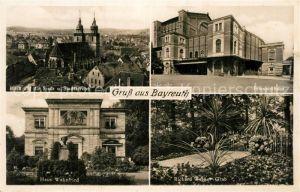 AK / Ansichtskarte Bayreuth Festspielhalle Stadtkirche Haus Wahnfried Richard Wagner Grab Bayreuth
