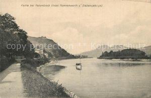 AK / Ansichtskarte Rolandseck Insel Nonnenwerth mit Siebengebirge Rolandseck