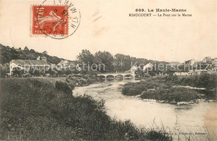 AK / Ansichtskarte Riaucourt Le Pont sur la Marne Riaucourt