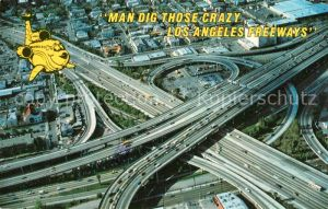 AK / Ansichtskarte Autobahn Freeway Interchanges Los Angeles Aerial View
