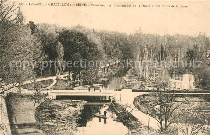 AK / Ansichtskarte Chatillon sur Seine Panorama Promenades de la Douix Bords de la Seine Chatillon sur Seine