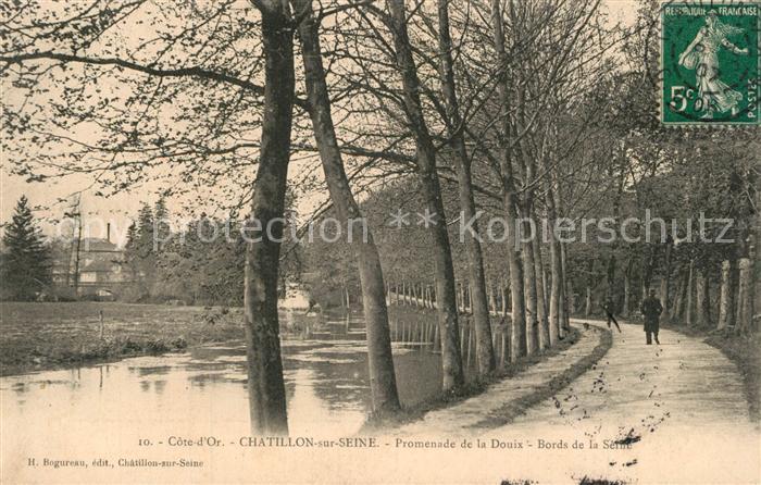AK / Ansichtskarte Chatillon sur Seine Promenade de la Douix Chatillon sur Seine