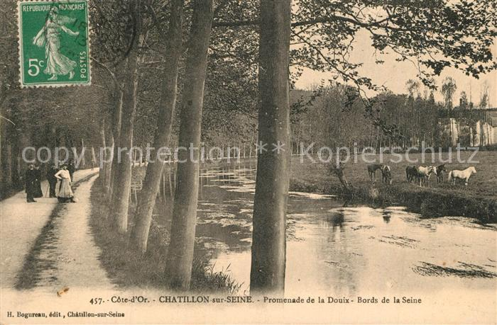 AK / Ansichtskarte Chatillon sur Seine Promenade de la Douix Bords de la Seine Chatillon sur Seine