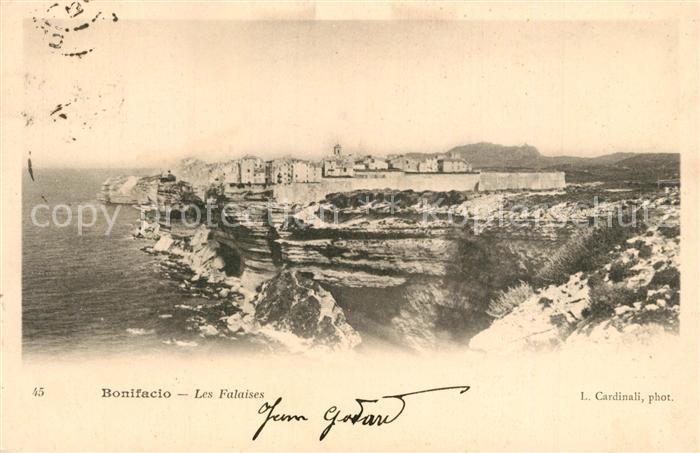 AK / Ansichtskarte Bonifacio_Corse_du_Sud Les Falaises Bonifacio_Corse_du_Sud