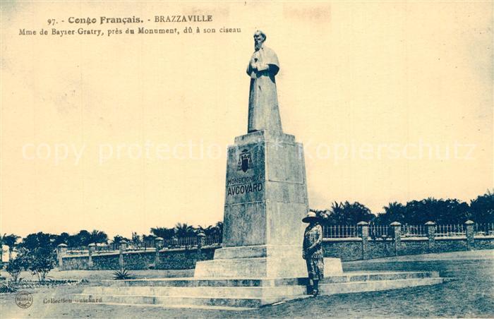 AK / Ansichtskarte Brazzaville Monument de Bayser Gratry Brazzaville