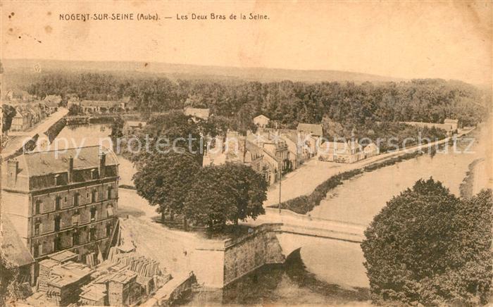 AK / Ansichtskarte Nogent sur Seine Les Deux Bras de la Seine Nogent sur Seine